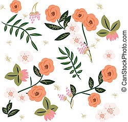 Beautiful retro floral pattern.