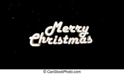 Beautiful retro inscription Merry Christmas with alpha channel