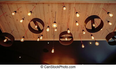 Beautiful retro interior lighting lamp decor. Lighting...