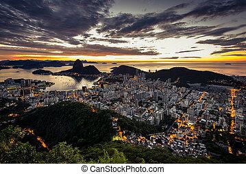 Beautiful Rio de Janeiro Before Sunrise