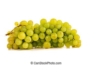 beautiful ripe green grapes