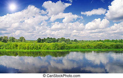 beautiful river and sky