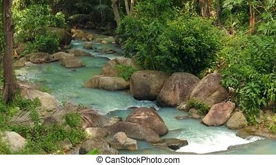Beautiful river in the forest. Thailand