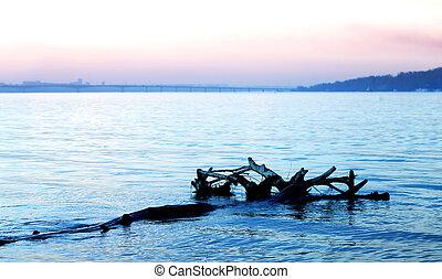 Beautiful river Volga in Russia