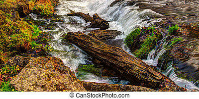 Beautiful River Waterfall in HDR High Dynamic Range