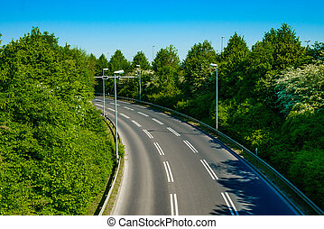 Beautiful road. country road with white lines