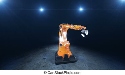 Beautiful Robot Arm Demonstrates its Movements with the...