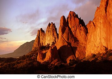 Beautiful Rocks - Red rock structures in Garden of the Gods...