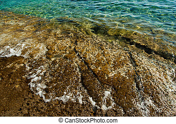 beautiful rocky beach in croatia