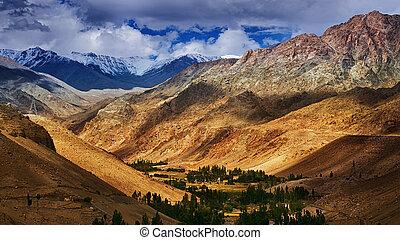 Beautiful rocky landscape of Ladakh , Jammu and Kashmir, Leh, India