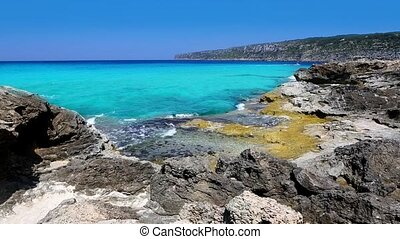 beautiful rocky shore beach escalo