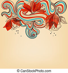 Beautiful romantic floral background vector illustration
