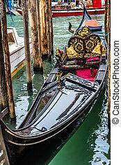 Beautiful Romantic Gondola in Venice, Italy