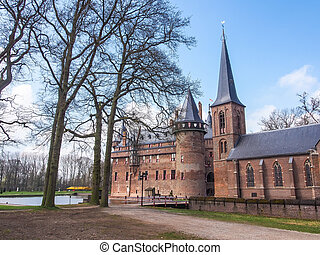Holland castle on water de Haar - beautiful romantic Holland...