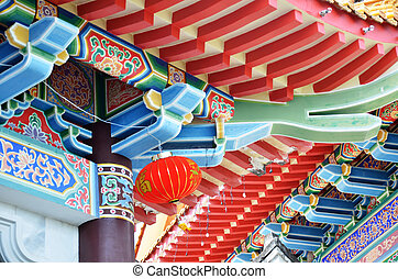 Beautiful roof of chinese temple, Kek Lok Si temple Penang