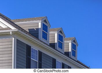 Beautiful roof windows on model home