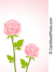 Beautiful Rose - illustration of pair of rose on abstract...