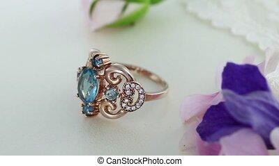 Beautiful Rose Gold Eternity Ring