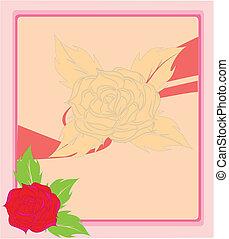 Beautiful rose. Vector illustration