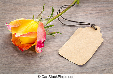 beautiful rose with a price tag