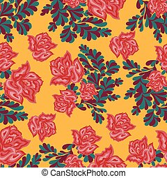 beautiful roses on a light background seamless pattern