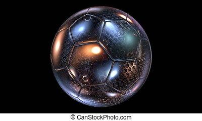 Beautiful Rotating Glass-Metal Soccer Ball