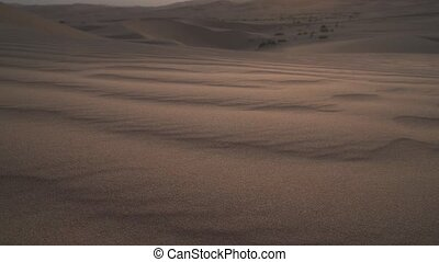 Beautiful Rub al Khali desert at sunrise stock footage video...