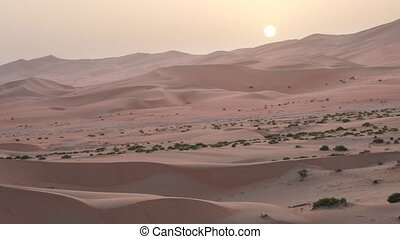 Beautiful Rub al Khali desert at sunset United Arab Emirates...