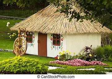 rural cottage in summer time