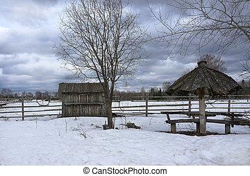 rural landscape in winter