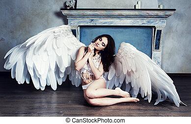 beautiful sad angel
