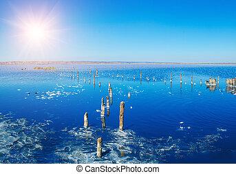 Beautiful salt lake