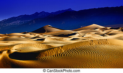 Beautiful Sand Dune Formations in Death Valley California