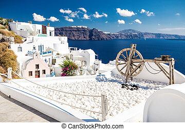 Beautiful Santorini terace