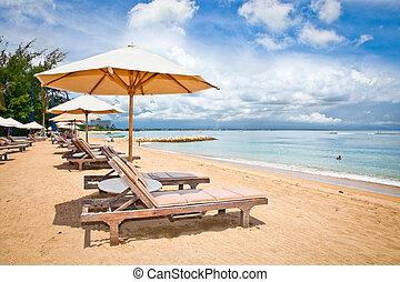 Beautiful Sanur beach on Bali, Indonesia.