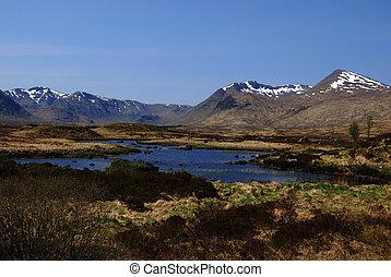 beautiful scenery in the Rannoch Moor, Scotland