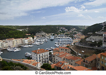 Bonifacio - Beautiful scenery of a ancient town - fortress ...