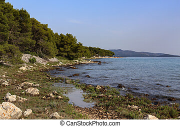 Beautiful scenery of the Adriatic coast in Croatia