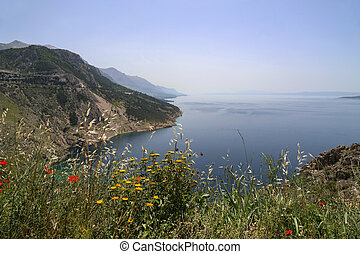 Beautiful scenery of the Adriatic coast