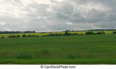 Beautiful scenery outside the car window
