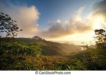 Beautiful scenic in mountains