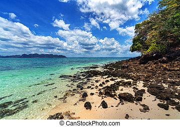 Beautiful scenic seascape in Krabi, Thailand.