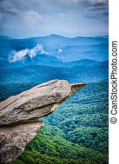 beautiful scenic views at rought ridge north carolina overlook