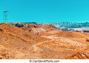 Beautiful scenic views of the state of Nevada. USA.
