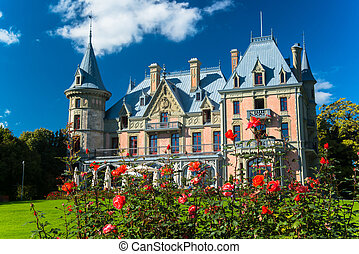 Beautiful Schadau Castle in the Thun city, Canton Bern,...
