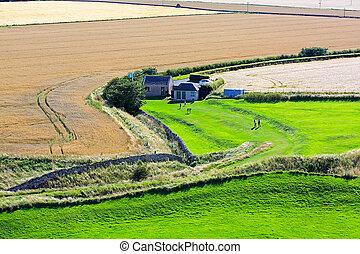 Beautiful Scottish landscape with fields
