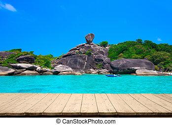 Beautiful sea and blue sky at Similan island, Andaman sea, Thailand