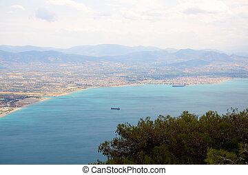 Beautiful sea coast in Greece