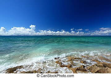 Beautiful sea in Okinawa - The cobalt blue sea and blue sky ...