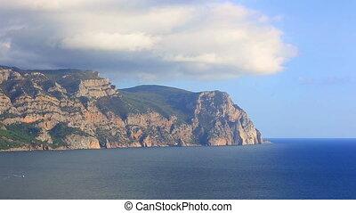 Beautiful sea landscape overlooking cape Aya, the Crimea